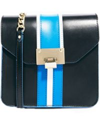Asos Leather Cross Body Bag with Panelling - Lyst