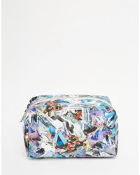 Jaded London | Holographic Crystal Print Make-up Bag | Lyst
