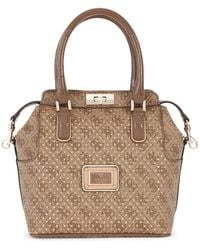 Guess Turnlock Logo Tote Bag - Lyst
