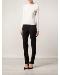 Narciso Rodriguez Crepe Slim Trousers - Lyst