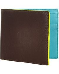 River Island Brown Neon Trim Wallet - Lyst