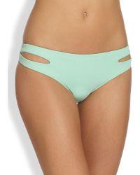 L*Space Estella Bikini Bottom green - Lyst