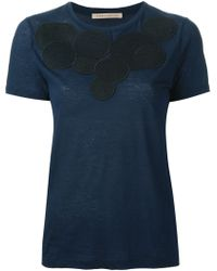 Christopher Kane Blue Molecules Tshirt - Lyst