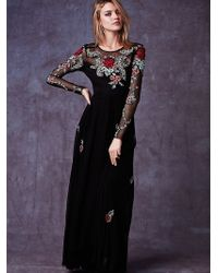 Free People Black Elizabeth Dress - Lyst