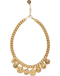 Versace Gold Medusa Medallion Chain Necklace - Lyst