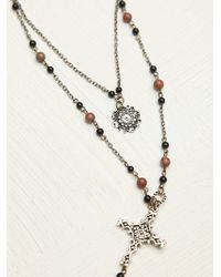 Free People Double Layer Rosary - Lyst