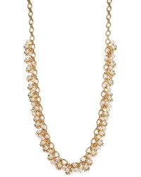 Tory Burch Katie Floral Cluster Necklace - Lyst