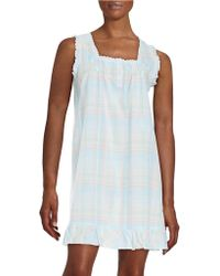 Miss Elaine - Plus Ruffle Accented Chemise - Lyst