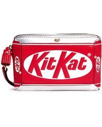Anya Hindmarch   'kit Kat' Mirror Leather Wristlet   Lyst