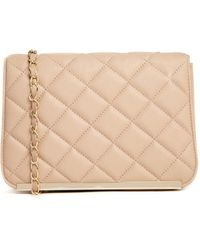Asos Quilted Cross Body Bag with Metal Bar Detail - Lyst