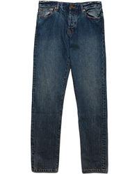 Han Kjobenhavn Tapered Blue Selvage Jeans blue - Lyst