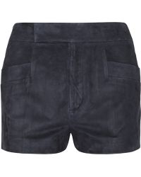 Miu Miu High-rise Suede Shorts - Lyst