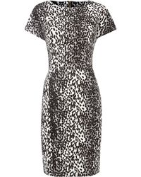 Therapy Animal Print Drop Sleeve Panel Textured Dress - Lyst