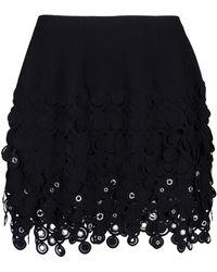 Paco Rabanne Knee Length Skirt black - Lyst