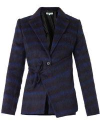 Kenzo Neonplaid Textured Jacket - Lyst
