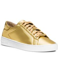 Michael Kors Ruth Metallic Sneaker - Lyst