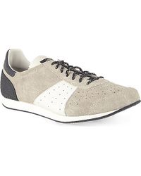 Stone Island Suede Runner Trainers - For Men - Lyst