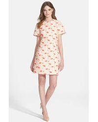 Kate Spade 'Flamingo' Sheath Dress - Lyst