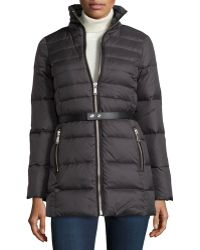 Andrew Marc Gina Puffer Coat With Fur Hood - Lyst