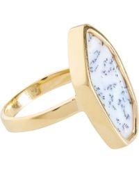 Monica Vinader - Gold Vermeil Dendritic Agate Atlantis Ring - Lyst