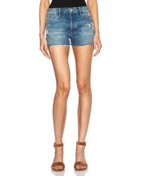 Mother Candice Swanepoel + The Stunner Fray Shorts - Lyst