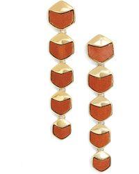 Rachel Zoe - 'alana' Leather Linear Earrings - Lyst