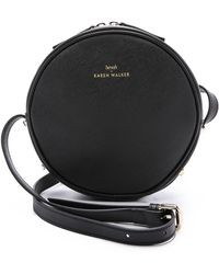 Karen Walker Benah For Marion Mini Round Bag - Black - Lyst