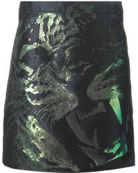 McQ by Alexander McQueen Leopard Motif Jacquard Skirt - Lyst