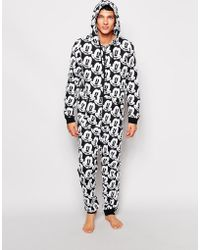 Asos Onesie with Mickey Mouse Print - Lyst