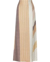 Missoni Metallic Crochetknit Maxi Skirt - Lyst