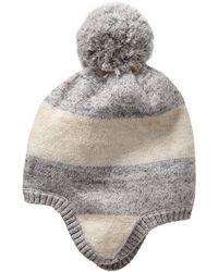 Gap Pom-pom Stripe Hat - Lyst