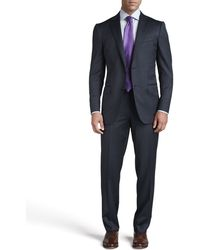 Ermenegildo Zegna Thick Woven Two-button Suit - Lyst