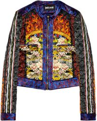 Just Cavalli Printed Silksatin Jacket - Lyst