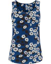 Oasis Daisy Shadow Vest - Lyst