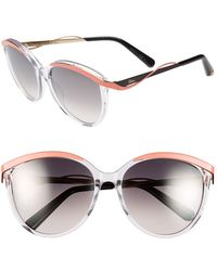 Dior Women'S Christian 'Metaleyes 1' 57Mm Retro Sunglasses - Crystal/ Coral - Lyst