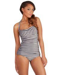 Esther Williams Swimwear Bathing Beauty One-Piece Swimsuit In Black Gingham multicolor - Lyst