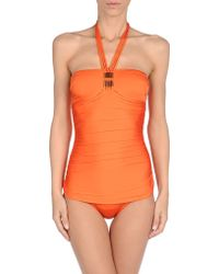 Annaclub By La Perla Orange Onepiece Suit - Lyst
