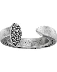 Giles & Brother Railroad Spike Ring W/ Pave silver - Lyst