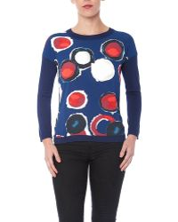 YAL New York - Long Sleeve Abstract Printed Sweater - Lyst