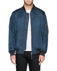PS by Paul Smith Stripe Cuff Bomber Jacket - Lyst