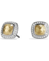 David Yurman Albion Earrings With Diamonds And 18K Gold - Lyst