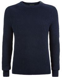 Ralph Lauren Black Label Shoulder Zip Sweater - Lyst