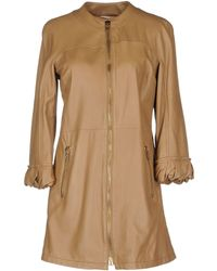 John Galliano Brown Leather Outerwear - Lyst