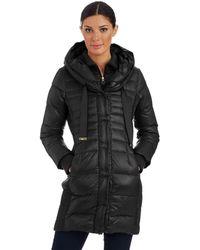Tahari Hooded Zip Up Jacket - Lyst