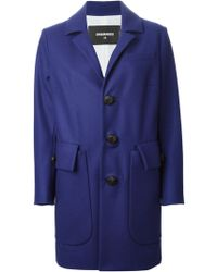 DSquared2 Single Breasted Coat - Lyst