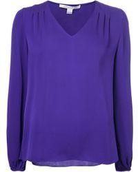 Diane Von Furstenberg Purple Arlenis Blouse - Lyst