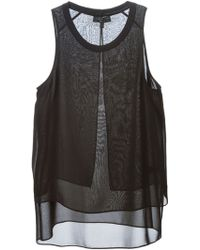 Rag & Bone Layered Sheer Tank Top - Lyst