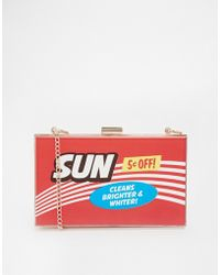 Asos Novelty Box Clutch Bag - Lyst