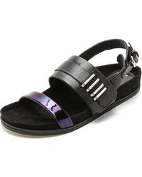 L.A.M.B. Bradyn Sandals - Black - Lyst