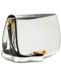 Marni Metallic Leather Shoulder Bag - Lyst